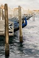 """""""Douce Venise"""", 2017, aquarelle, 14"""" x 12"""", 130$ ©"""