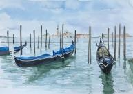 """""""Venise"""", 2017, aquarelle, 8""""x 11"""", VENDU ©"""