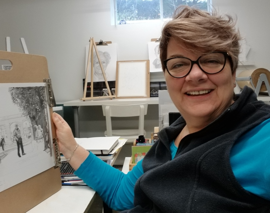 Sonia Isabelle en atelier